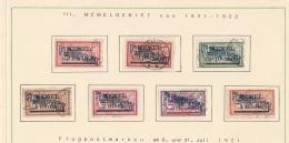 +++ Kleine Sammlung Deutsches Reich Memel Flugpostmarken Mit Dabei Punkt Im T  Und Ohne T Michelnr. 40  I Und II +++ - Klaipeda