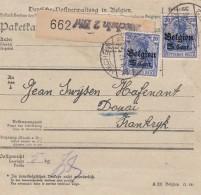 Deutsches Reich  Landespost Belgien Paketbrief 1914-18 - Besetzungen 1914-18
