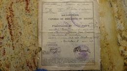 Permission De 9 Jours Hopital Mixe De Montauban 17 Eme Corps D'armee 1917 - Documents