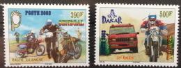 Sénégal 2003 26e Rallye Dakar Rally Motorbike Moto Car Voiture Motorrad Auto 2 Val. RARE MNH - Senegal (1960-...)