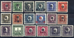 YUGOSLAVIA 1919 Kraljevstvo Overprints On Bosnia Herzegovina Set Of 18 Used.  Michel 33-50, SG 29-46 - Used Stamps