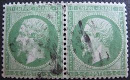 R1680/96 - NAPOLEON III (PAIRE) N°20a - Cote : 37,00 € - 1862 Napoleon III