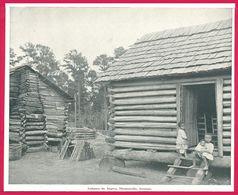 Cabanes D'esclaves Thamasville Géorgie Recto. Av Ashland Chicago. Un Voyage à Travers L'Amérique. 1895. Éd Greig. Et Cie - Vieux Papiers