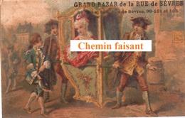Chromo GRAND BAZAR Paris - Voiture à Porteur.... -  Scans Recto-verso - Chromos