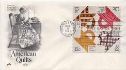 USA Set On FDC - Cultures