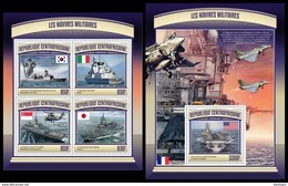 CENTRAL AFRICA 2017 - Military Ships - YT 4901-4 + BF1096; CV=39 € - Boten