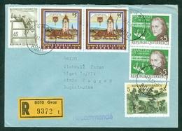 Austria 1973 1886 1987 Military Army Korneuburg Franz List Music Art Woods Rec Letter Abroad - 1991-00 Storia Postale