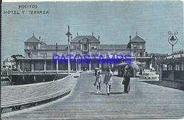 101521 URUGUAY MONTEVIDEO POCITOS HOTEL Y TERRAZA POSTAL POSTCARD - Uruguay