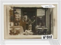 3788 AK/PC/CARTE PHOTO/N°508/CAFE  A IDENTIFIER/CHIEN - Cartoline