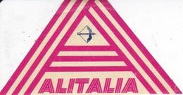 ANTIGUA ETIQUETA DE LA COMPAÑIA AEREA ALITALIA (AVION-PLANE) - Etiquetas De Equipaje