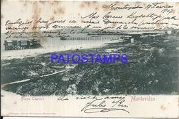 101524 PERU MONTEVIDEO BEACH PLAYA CAPURRO SPOTTED CIRCULATED TO ARGENTINA POSTAL POSTCARD - Uruguay