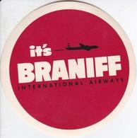 ANTIGUA ETIQUETA DE LA COMPAÑIA AEREA BRANIFF AIRWAYS (AVION-PLANE) - Etiquetas De Equipaje