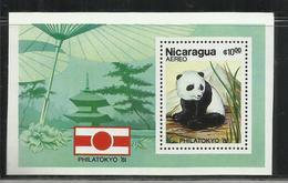 NICARAGUA 1981 PHILATOKYO 81 PHILA TOKYO PANDA BEAR ORSO BLOCK SHEET BLOCCO FOGLIETTO MNH - Nicaragua