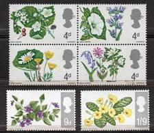 GREAT BRITAIN 1967 British Wild Flowers (ordinary) - 1952-.... (Elizabeth II)