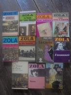 Petit Lot -11 Livres De Emile ZOLA - Lots De Plusieurs Livres