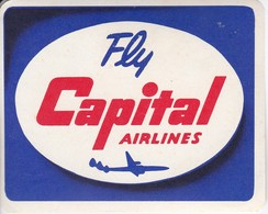 ANTIGUA ETIQUETA DE LA COMPAÑIA AEREA CAPITAL AIRLINES  (AVION-PLANE) - Etiquetas De Equipaje