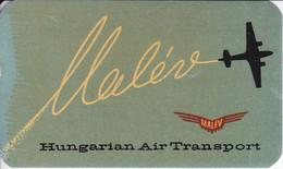 ANTIGUA ETIQUETA DE LA COMPAÑIA AEREA MALEV  (AVION-PLANE)  HUNGARY - Étiquettes à Bagages