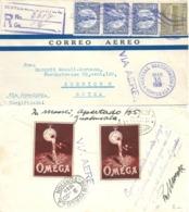 Airmail R Brief  Guatemala - New York - Zürich  (Omega Vignetten)          1931 - Guatemala