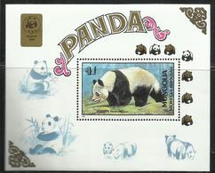 MONGOLIA 1989 PANDA BEAR BAMBOO ORSO BLOCK SHEET BLOCCO FOGLIETTO MNH - Mongolia