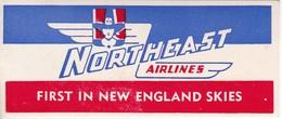 ANTIGUA ETIQUETA DE LA COMPAÑIA AEREA NORTHEAST AIRLINES  (AVION-PLANE) - Etiquetas De Equipaje