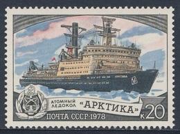 "Soviet Unie CCCP Russia 1978 Mi 4809 ** Atomic Ice Breaker ""Arktika""  / Atomeisbrecher ""Arktika"" - Boten"