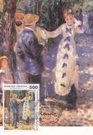 CARTE MAXIMUM  1er JOUR -  AUGUSTE RENOIR   -  LIMOGES  (87)   23/02/1991 - Maximumkarten