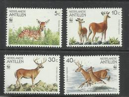NETHERLANDS ANTILLEN ANTILLE OLANDESI 1992 WWF NATURE ANIMALS DEER ANTILOPE COMPLETE SET SERIE COMPLETA MNH - Antille