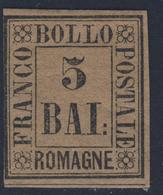 5 Baj Violetto Con Margine Sinistro Corto - Immagine Del Verso - Romagne