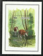 ZAIRE CONGO 1984 OKAPI FAUNA WILD ANIMALS ANIMALI WWK BLOCCK SHEET BLOCCO FOGLIETTO MNH - Zaire