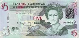 EAST CARIBBEAN STATES 5 DOLLARS ND (2008) P-47 UNC  [ECS231a] - East Carribeans