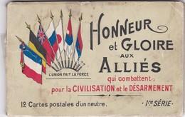 HONNEUR  ET  GLOIRE AUX ALLIES  12 CARTES POSTALES D UN NEUTRE - Humoristiques
