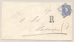 Nederlands Indië - 1897 - 20 Cent Willem III, Envelop G2b Aangetekend Van VK MENADO Naar Makasser - Nederlands-Indië