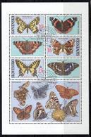SK+ Slowakei 2002 Mi Bl. 18 - 427-29 Schmetterlinge - Slowakische Republik