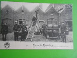 Cpa Verviers Fabrique Simonis Laine Metier Pompier Echelle Lance - Verviers