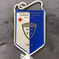 Flag (Pennant / Banderín) ZA000390 - Football (Soccer / Calcio) Croatia RNSSiB Savonija I Baranja - Apparel, Souvenirs & Other