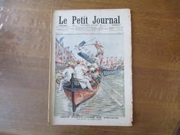 LE PETIT JOURNAL 6 AOUT 1905 JEUX POPULAIRES EN FRANCE LES JOUTES A LA LANCE A CETTE,LES SOLDATS MOISSONNEURS - Journaux - Quotidiens