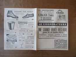 """LES COOPERATEURS ORGANISENT UNE GRANDE VENTE RECLAME """"POUR LA VIE MOINS CHERE"""" - Publicités"""