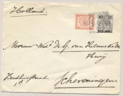Nederlands Indië - 1906 - 10 Cent Bontkraag, Envelop G18 Van L KENDANGAN VK BANDJERMASIN Naar Scheveningen / Nederland - Nederlands-Indië