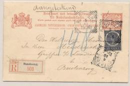 Nederlands Indië - 1906 - 5+5 Cent Vürtheim, Briefkaart G15 Met Vroege Datum VBD!! Aangetekend Van Bandoeng - Buitenzorg - Nederlands-Indië
