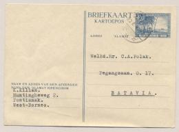 Nederlands Indië - 1947 - 3,5 Cent Strand Met Palmbomen, Briefkaart G75 Van PV2 PONTIANAK Naar Batavia - Nederlands-Indië