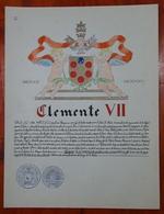 HERALDIQUE PAPE POPE CLEMENTE XII. HAND PAINTED SIZE 42x32 Cm. CIRCA 1925. ORIGINAL - BLEUP - Altre Collezioni