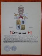 HERALDIQUE PAPE POPE ADRIANO VI. HAND PAINTED SIZE 42x32 Cm. CIRCA 1925. ORIGINAL - BLEUP - Altre Collezioni