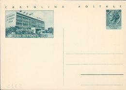 INTERO POSTALE FIERE CAMPIONARIE: FIERA PADOVA L. 20 - 28.5.1954 - CATALOGO FILAGRANO C162 NUOVO ** - 1946-.. République