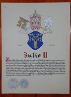 HERALDIQUE PAPE POPE JULIO II. HAND PAINTED SIZE 42x32 Cm. CIRCA 1925. ORIGINAL - BLEUP - Autres