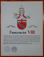 HERALDIQUE PAPE POPE INOCENCIO VII. HAND PAINTED SIZE 42x32 Cm. CIRCA 1925. ORIGINAL - BLEUP - Altre Collezioni