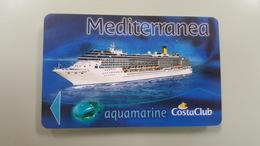 ITALY - COSTA - MEDITERRANEA - AQUAMARINE - CRUISE CABIN KEY CARD - - Cartes D'hotel