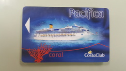 ITALY - COSTA - PACIFICA - CORAL - CRUISE CABIN KEY CARD - - Hotel Keycards