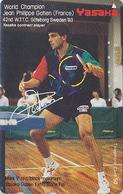 Télécarte Japon / 110-011  - PING PONG - Champion JEAN-PHILIPPE GATIEN / FRANCE - TABLE TENNIS Japan Phonecard - 309 - Sport