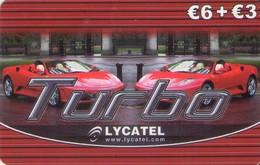 TARJETA TELEFONICA DE ESPAÑA, (PREPAGO). LYCATEL, TURBO - COCHES. 6+3E. PRE-LYC-0001 (513). - Cars