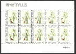 Nederland Postfris/MNH, Janneke Brinkman: Bloemen, Flowers, Fleures. Amaryllis - Nederland